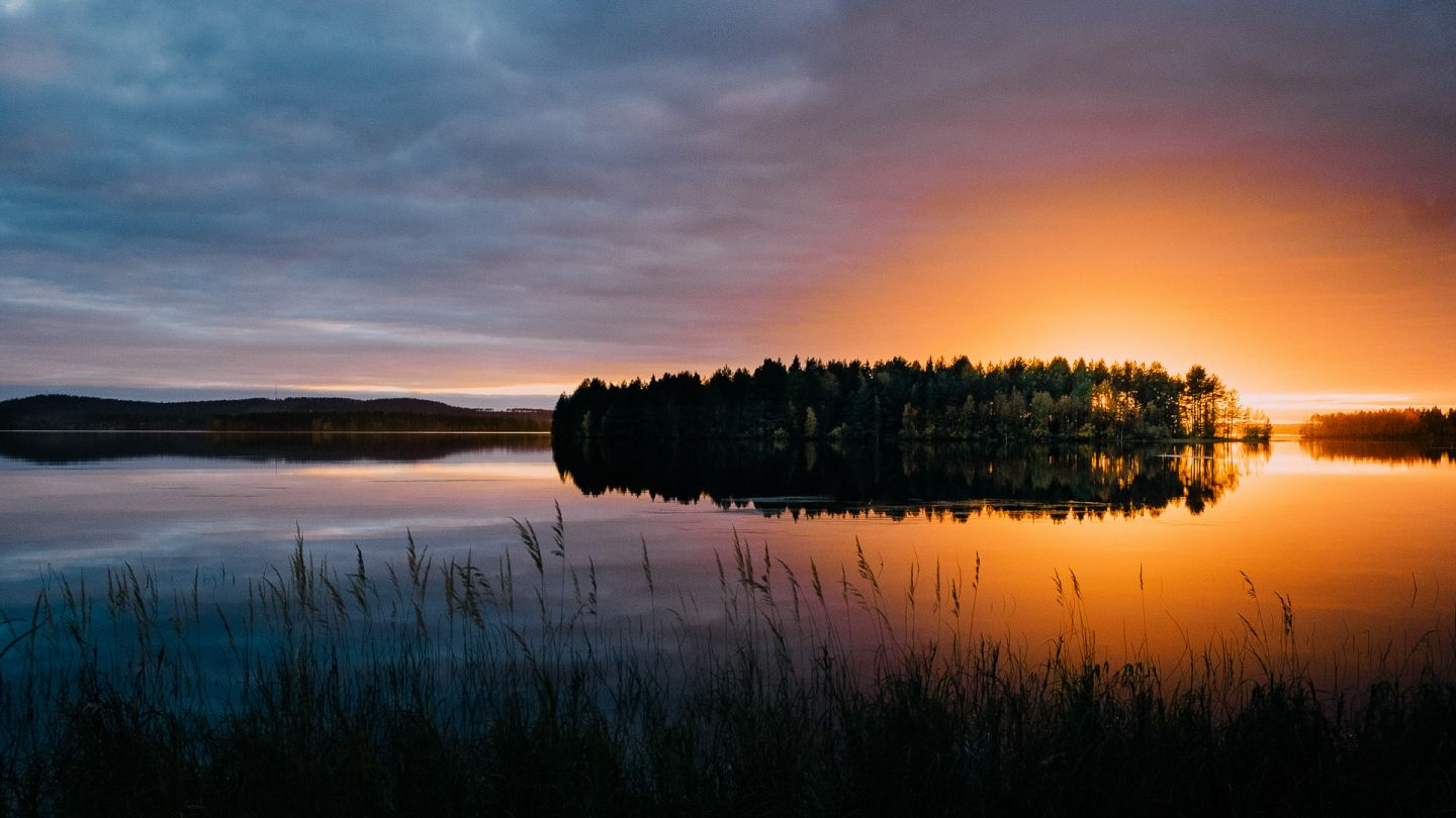 Sunset on Lake Kemijärvi Finnish Lapland