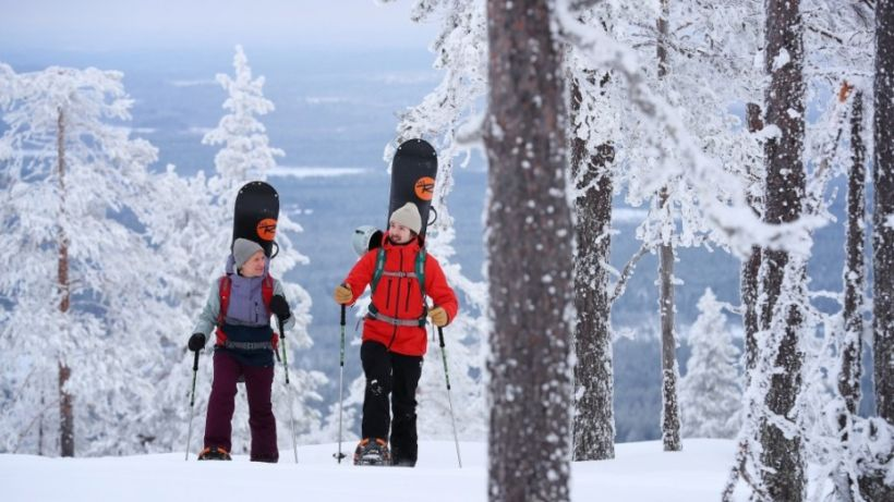 Snowboarding in Kemijärvi Finnish Lapland