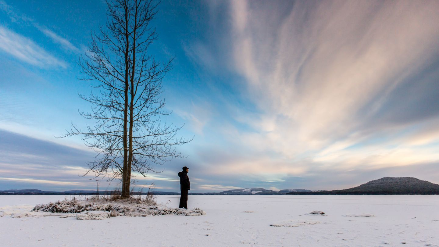 Stark winter scenery in Kemijärvi Finnish Lapland