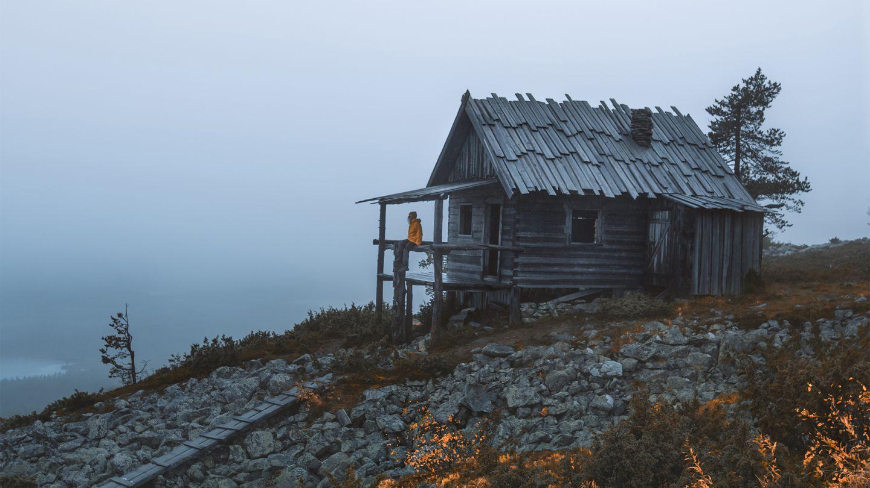 Wooden cabin in autumn, by Lapland Photographer, Sanni Vierelä