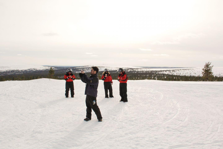 Snowy landscape at Saariselkä, during Film Lapland Fam Tour 2018