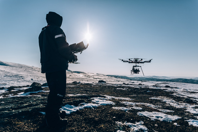 Flying a drone in winter