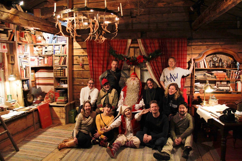 Meeting Santa Claus at SantaPark, during Film Lapland Fam Tour 2018