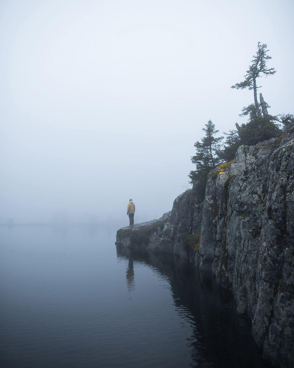 The Misty Peak, by Arctic nature photographer Sanni Vierelä