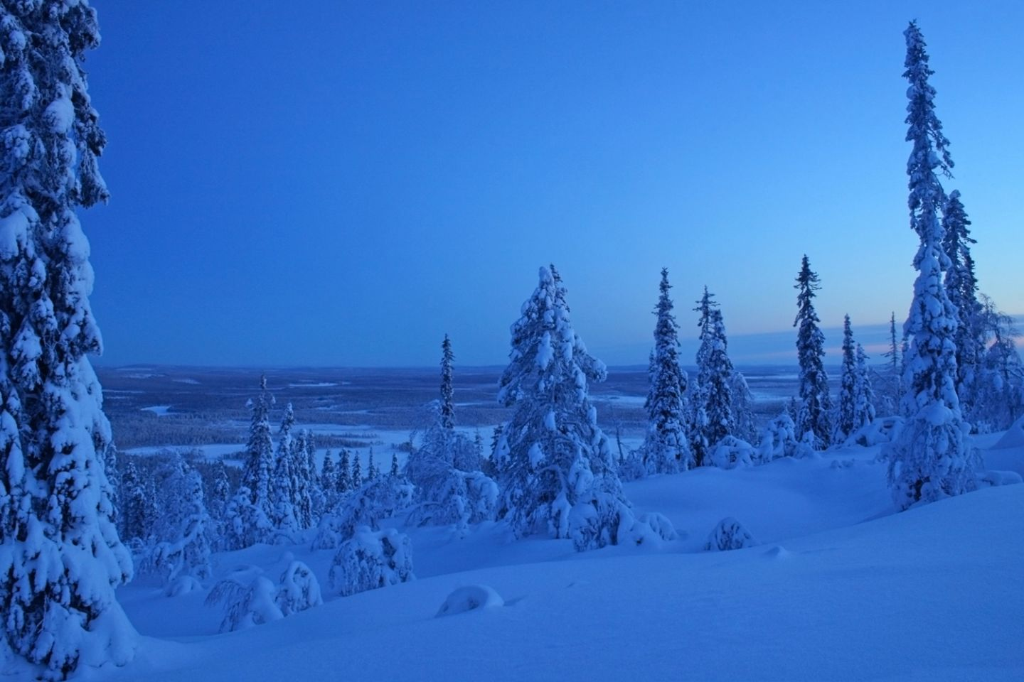 Blue moment in the Arctic