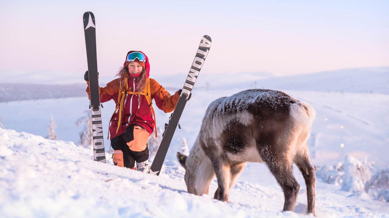 Freerider meets reindeer