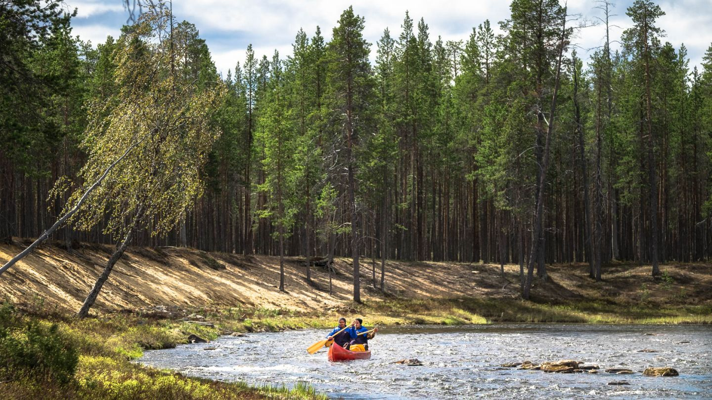 Canoeing in Lapland