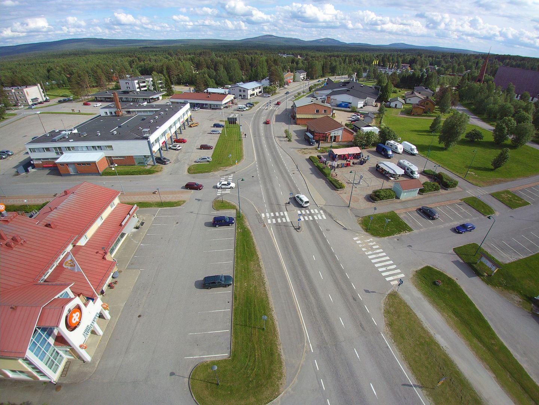 Arctic small town in Salla, Lapland