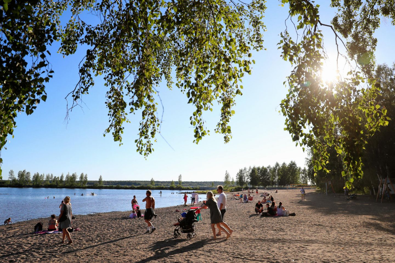 Sandy beach in Kemi, Finland