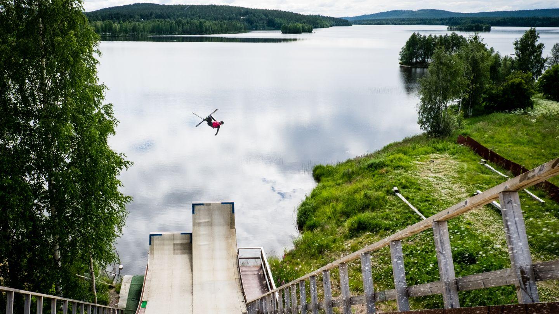 Severi Vierelä Kemijärven vesihyppyrillä