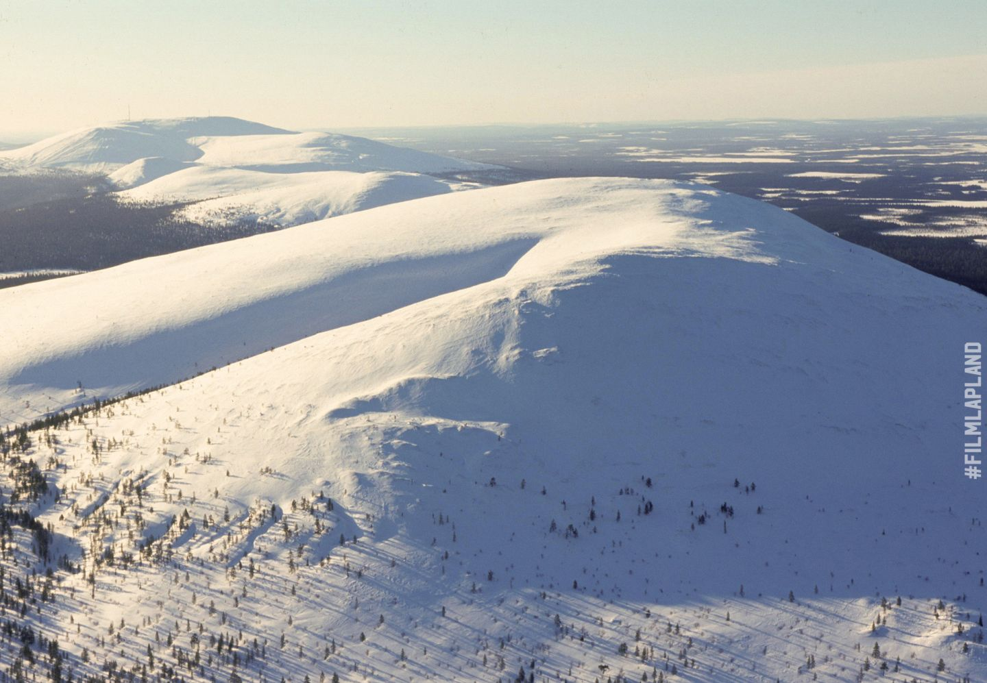 Snow-covered hills in Ylläs, Kolari, Finland