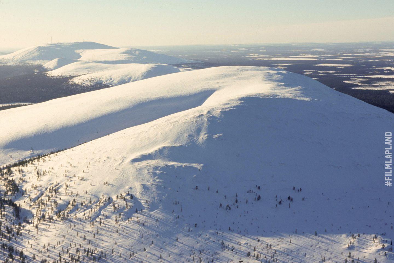 Snow-covered hills in Ylläs, Kolari, Finland