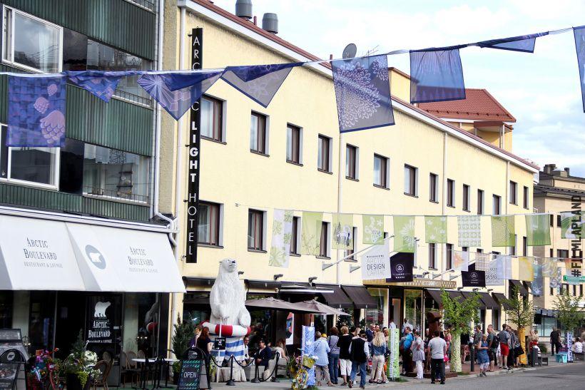 Downtown Rovaniemi, Lapland in summer