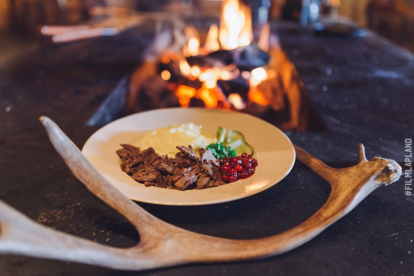Reindeer stew, a traditional Lapland cuisine