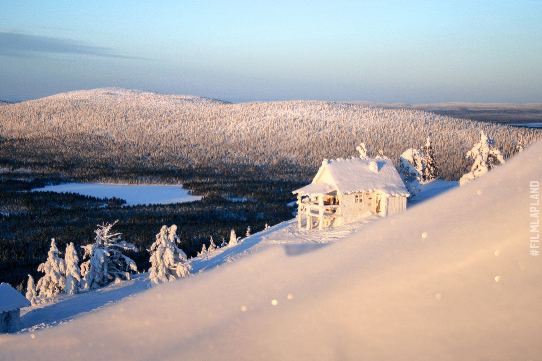 Frozen cottage in Kittilä, Finland