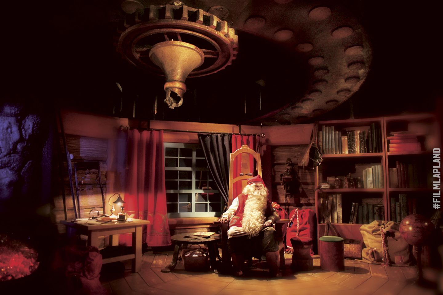 Inside Santa Claus' Office at Santa Claus Village in Rovaniemi, Finland