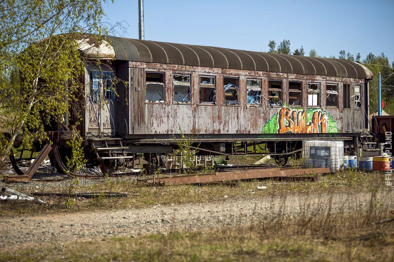 Abandoned railway car in Rovaniemi, Finland