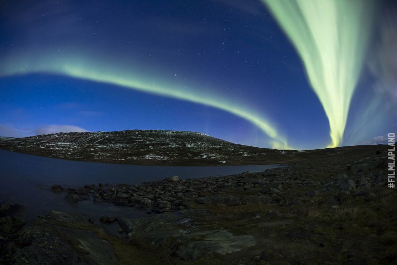 Northern Lights over Saana fell in Kilpisjärvi, Finland