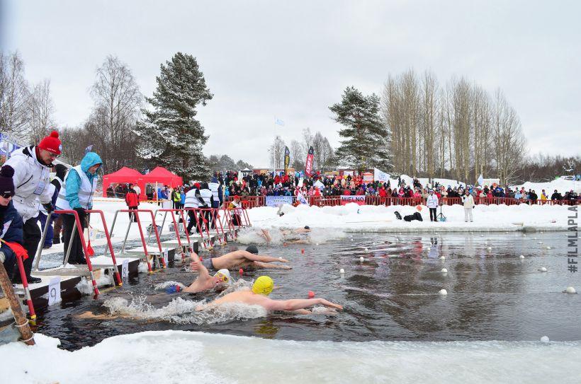 Winter swimming world championship in Rovaniemi, Lapland