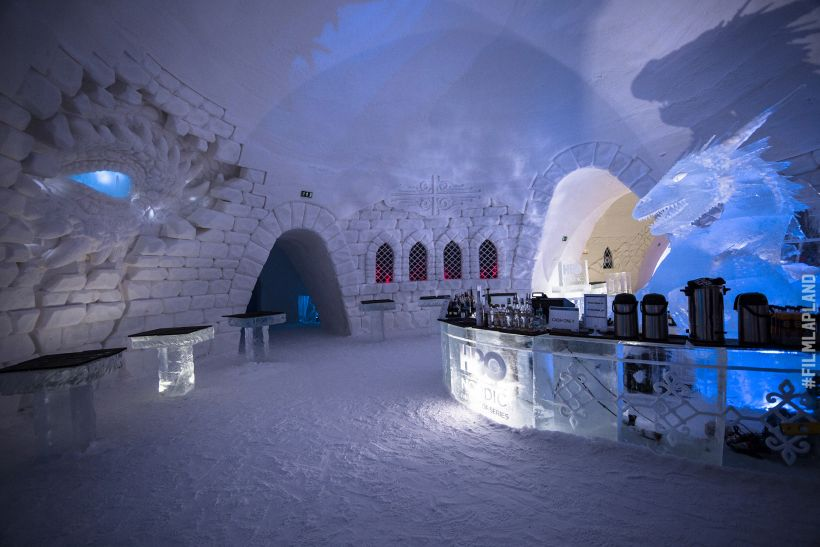 Game of Thrones-themed snow castle in Kittilä, Finland