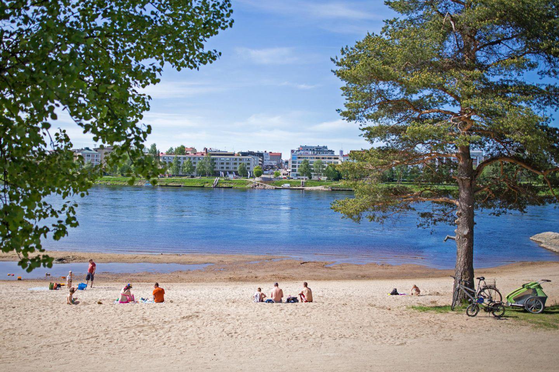 Rovaniemi city beach