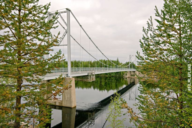 Bridge over Lake Kemijärvi in Lapland, Finland