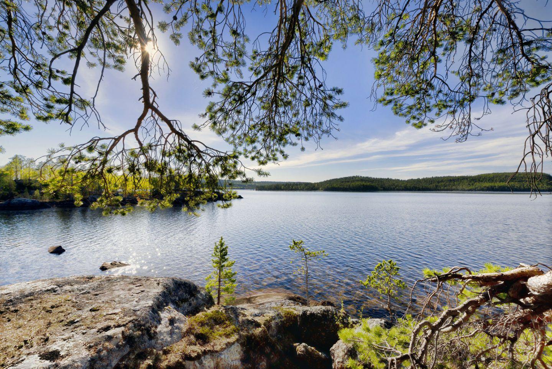 Lake Inarijärvi in summer, Inari, Finland