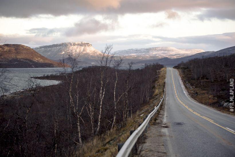 View of Saana fell from the highway in Kilpisjärvi, Enontekiö, Finland