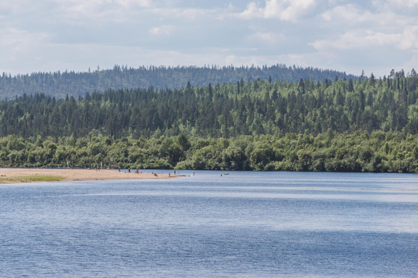 Beach by the forest in Ivalo, Finland