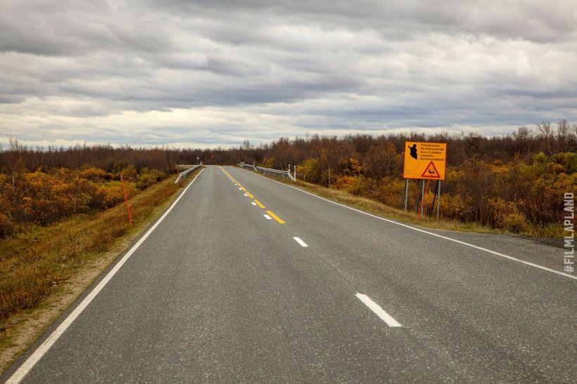 Highway in Enontekiiö, northern Finland