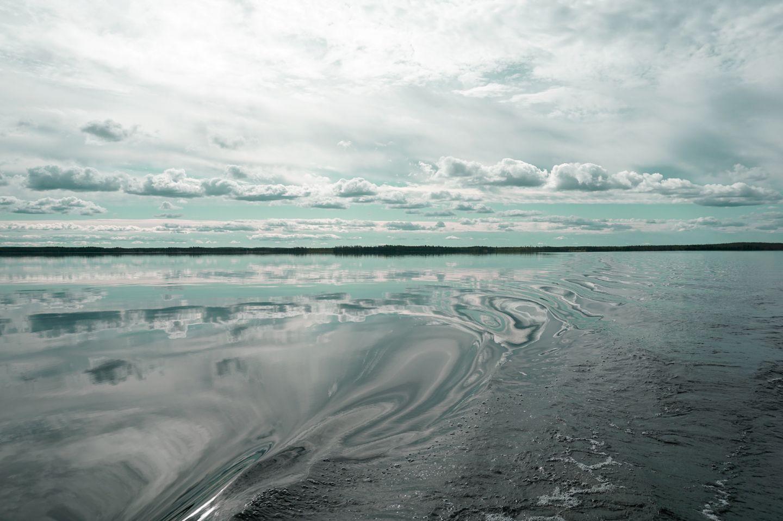 Calming view of Simojärvi lake in Ranua, Lapland