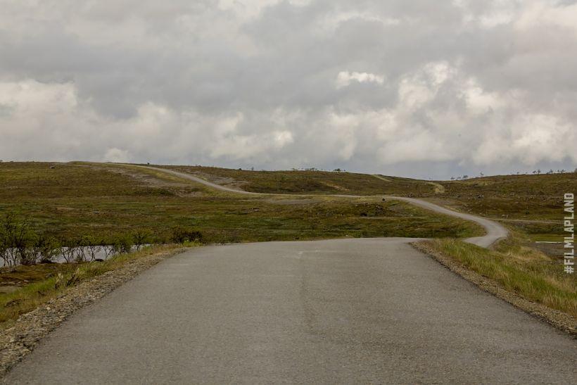 Lonely road in Utsjoki, northern Finland