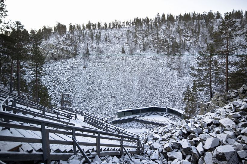 Amphitheatre in wilderness in Aittakuru, Pyhätunturi