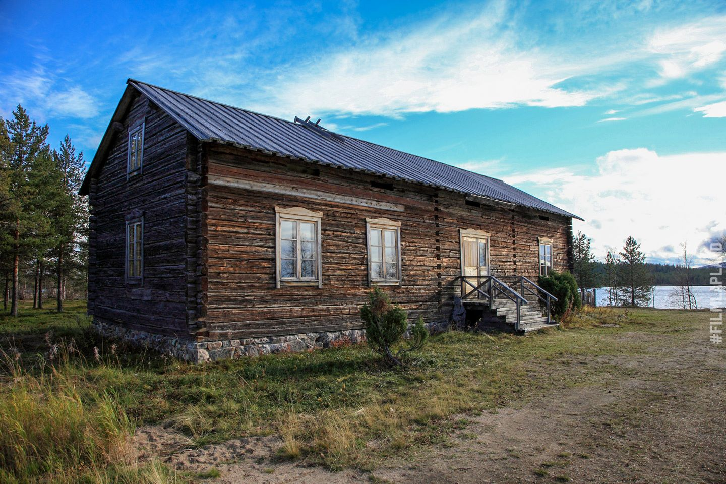 Old wooden house in Enontekiö, Finland
