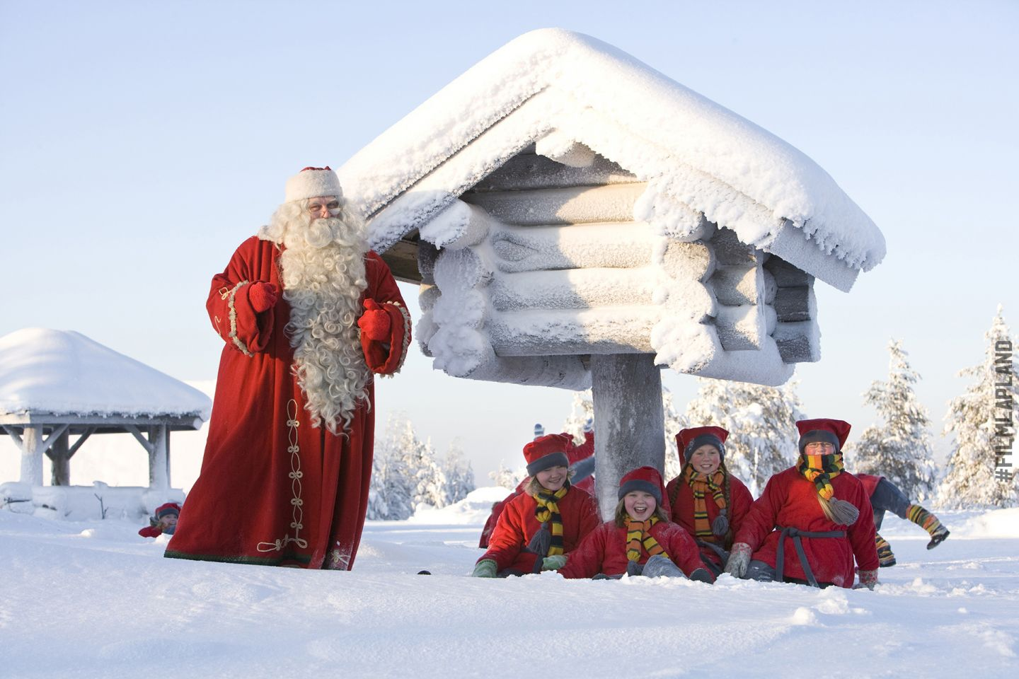 Santa Claus and elves in Rovaniemi, Finland