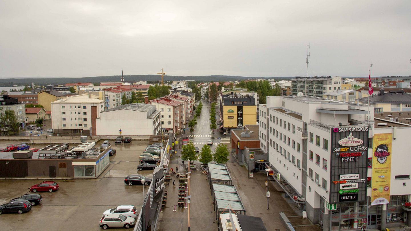 Urban landscape in Rovaniemi city centre