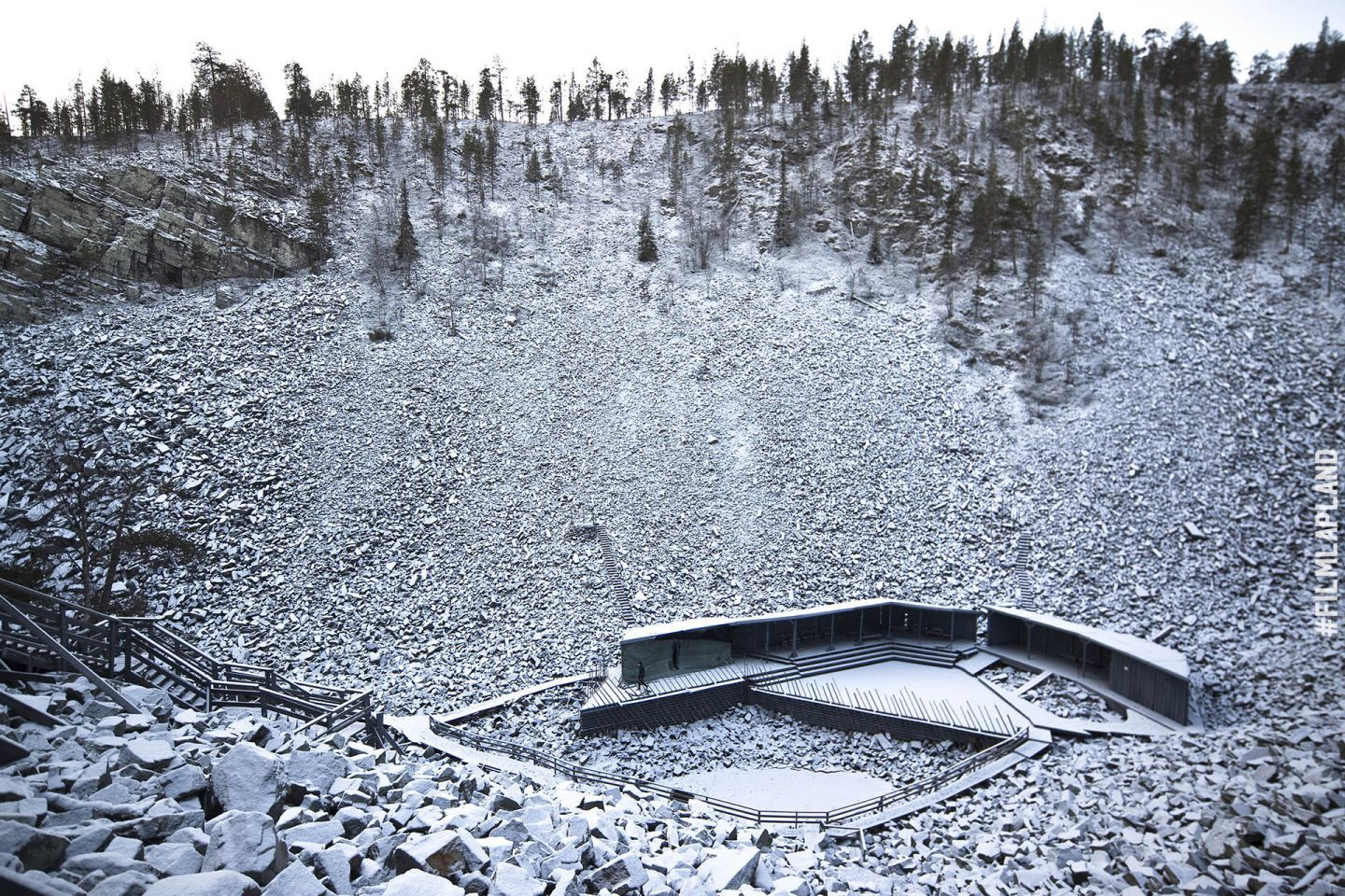 Wilderness amphitheater in Pyhätunturi, in Pyhä Finland