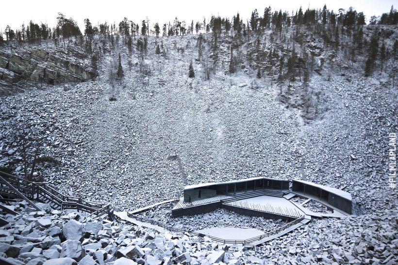 Wilderness amphitheater in Pyhätunturi, in Pyhä Finland