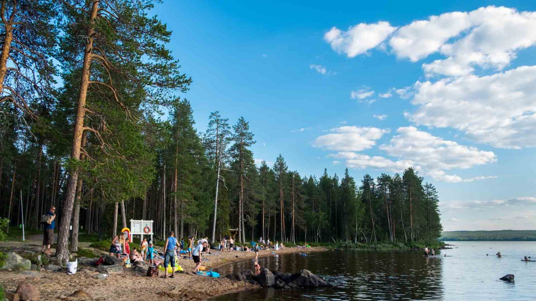 Beaches in Finland, Rovaniemi - Norvajärvi