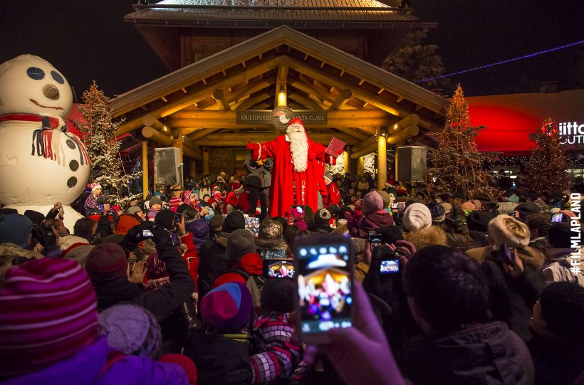 Santa Claus opens the Christmas season in Rovaniemi, Finland