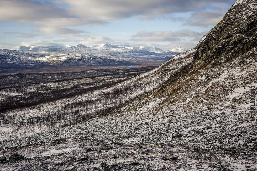 Frosty hillside in Kilpisjärvi, Enontekiö, Finland
