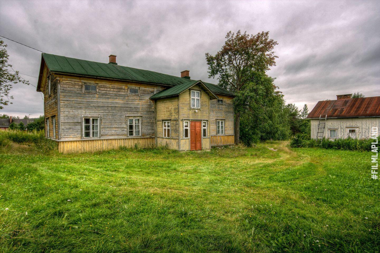 Abandoned wooden building in Kemijärvi, Finland