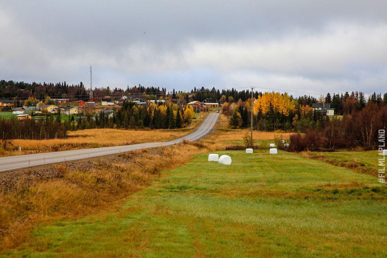 Road through a Lapland village, in Enontekiö, Finland