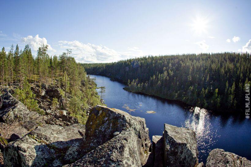 Rocky river in Sodankylä, Finland