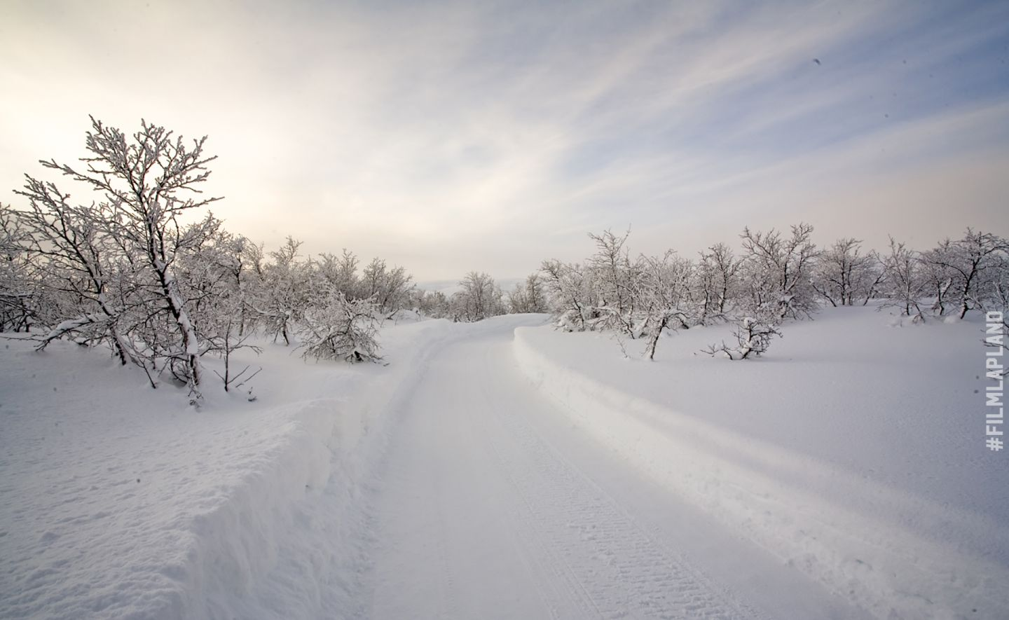 Snowmobile track in Enontekiö, northern Finland
