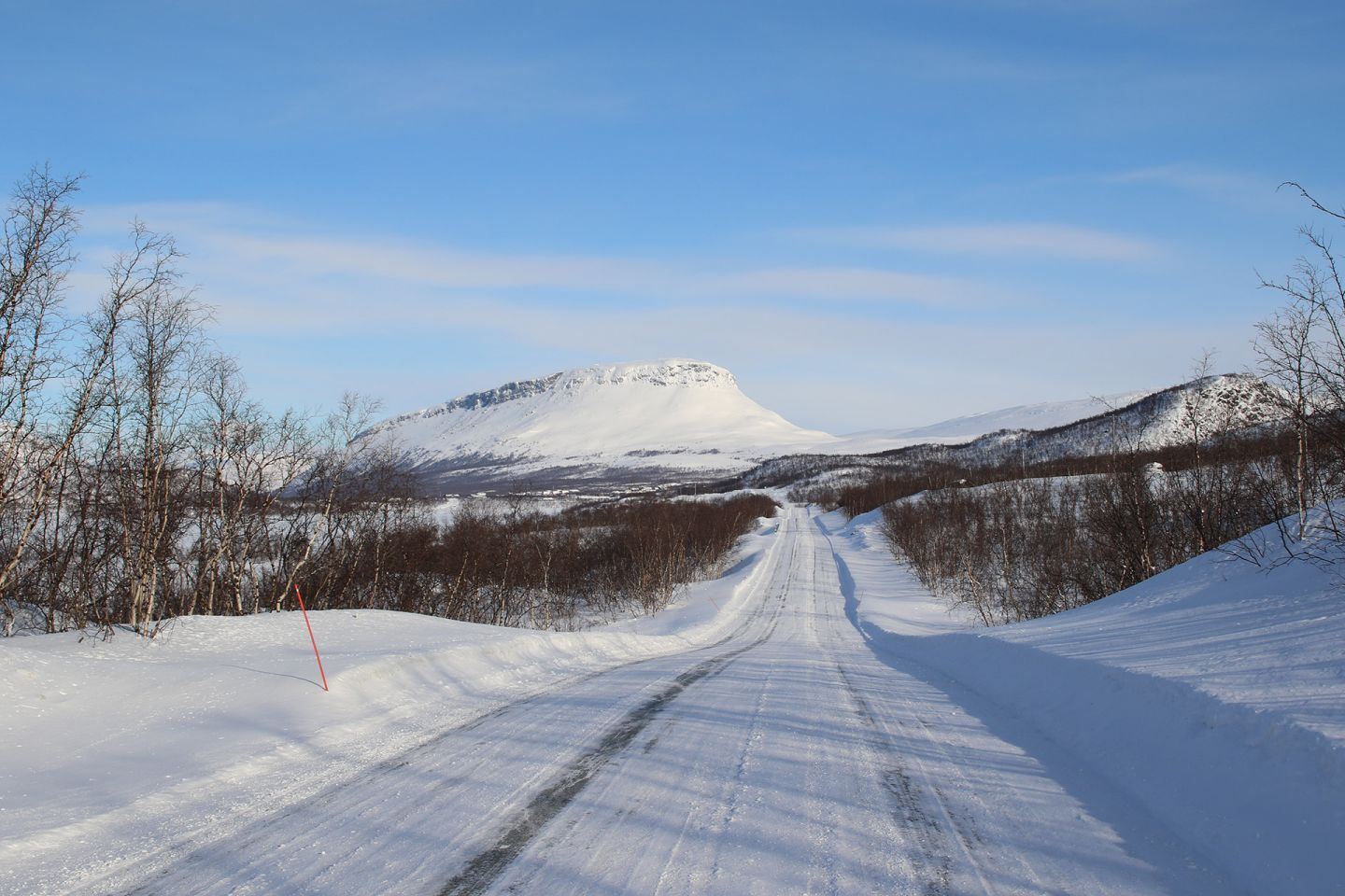 Saana arctic mountain in the end of a road in Enontekiö, Lapland