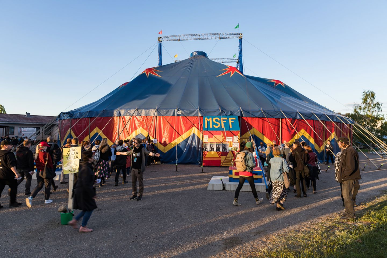 Midnight sun film festival in Sodankylä, Finland
