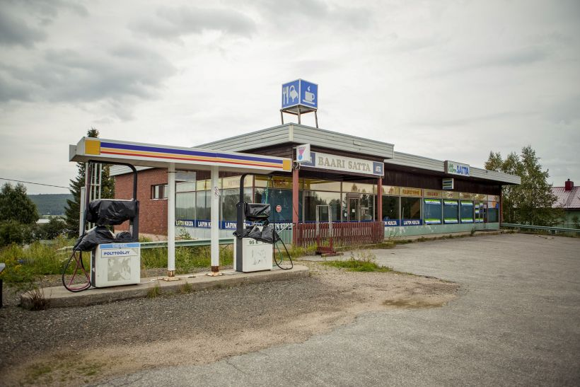 Abandoned gas station in Kolari, Finland