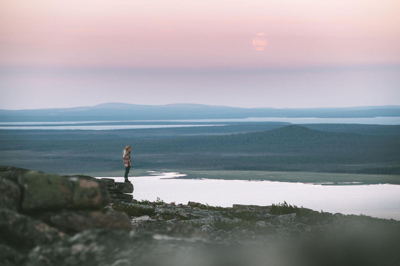 Valley view from Pyhä-Nattanen in Sompio, Lapland