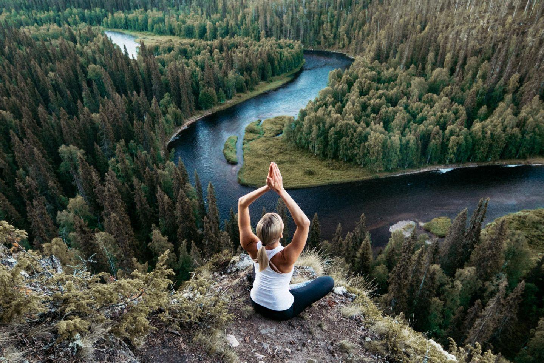 Yoga in Oulanka National Park, Ruka Finland